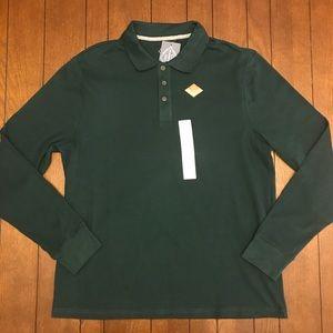 St. John's Bay Hunter Green Long Sleeve Polo Shirt